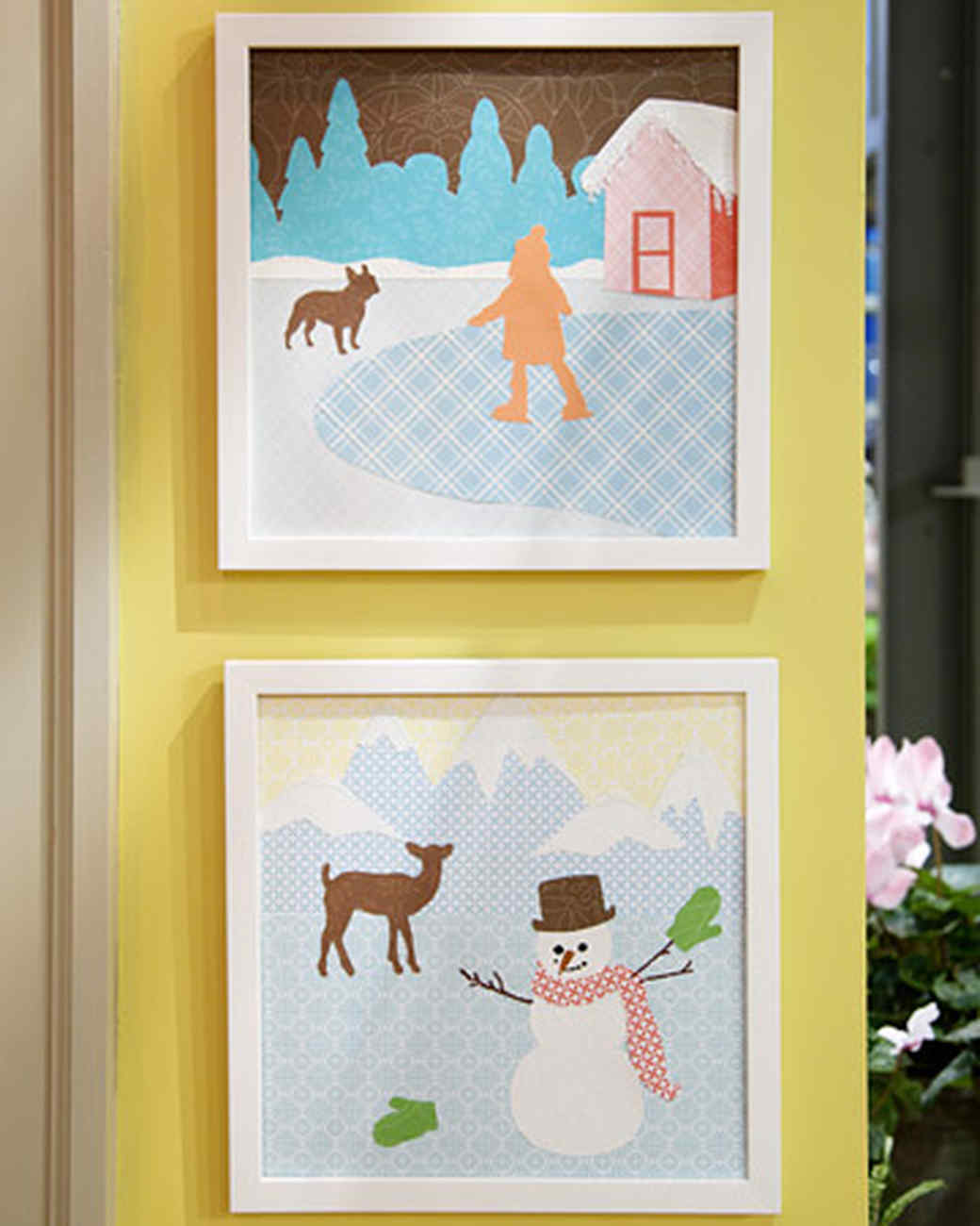 Scrapbook Paper Landscapes & Video | Martha Stewart