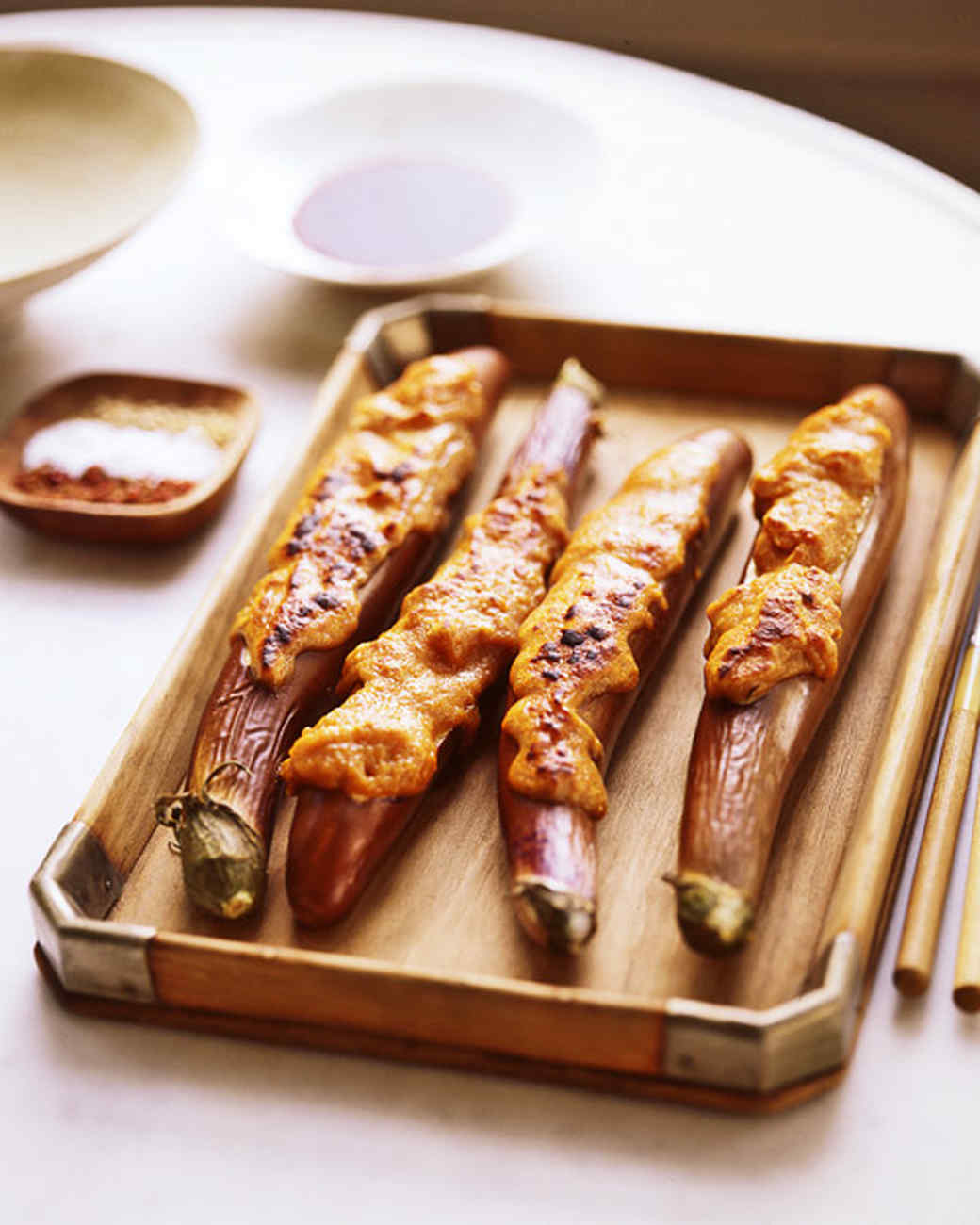 Miso-Stuffed Eggplant
