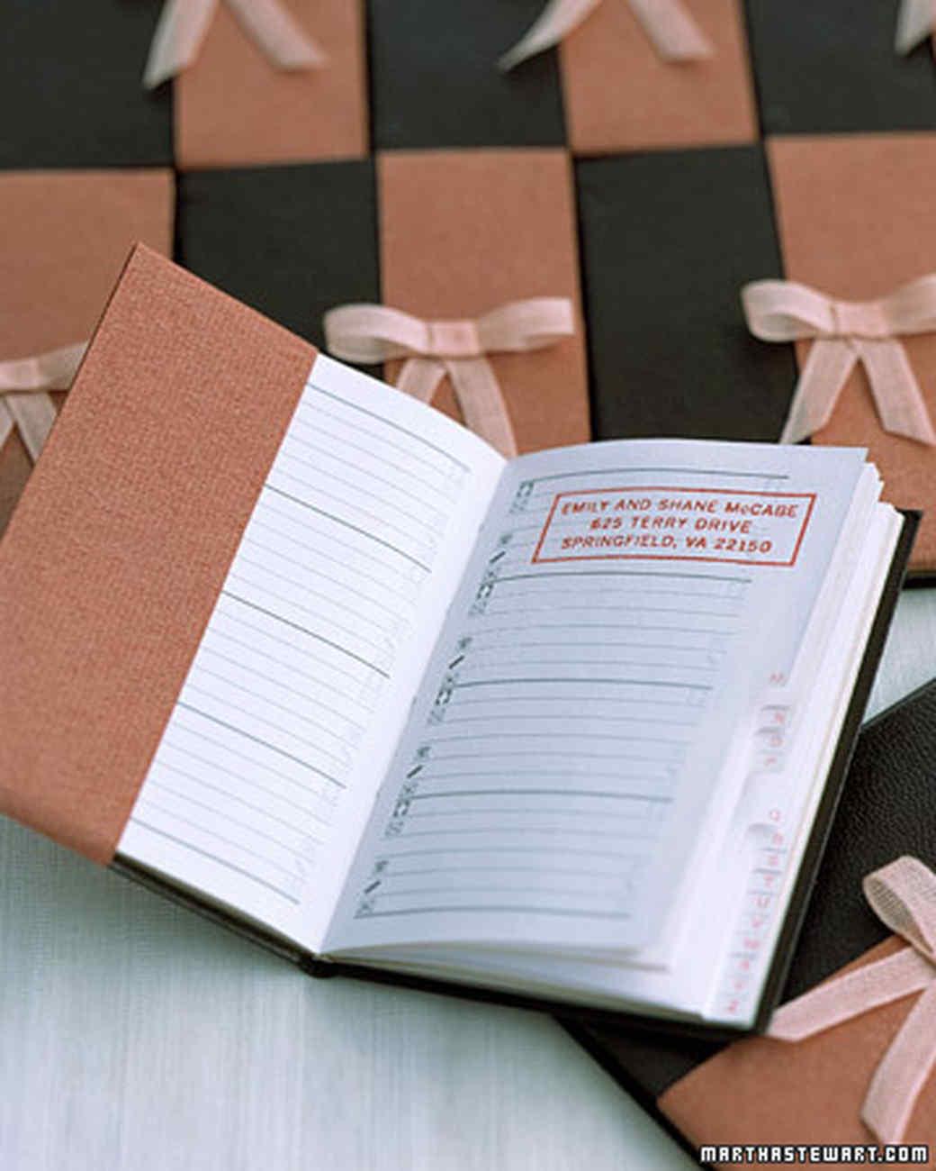 Address Book Favor