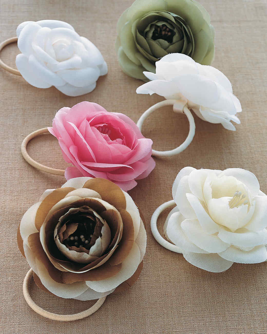 Silk Flower Hair Bands Martha Stewart