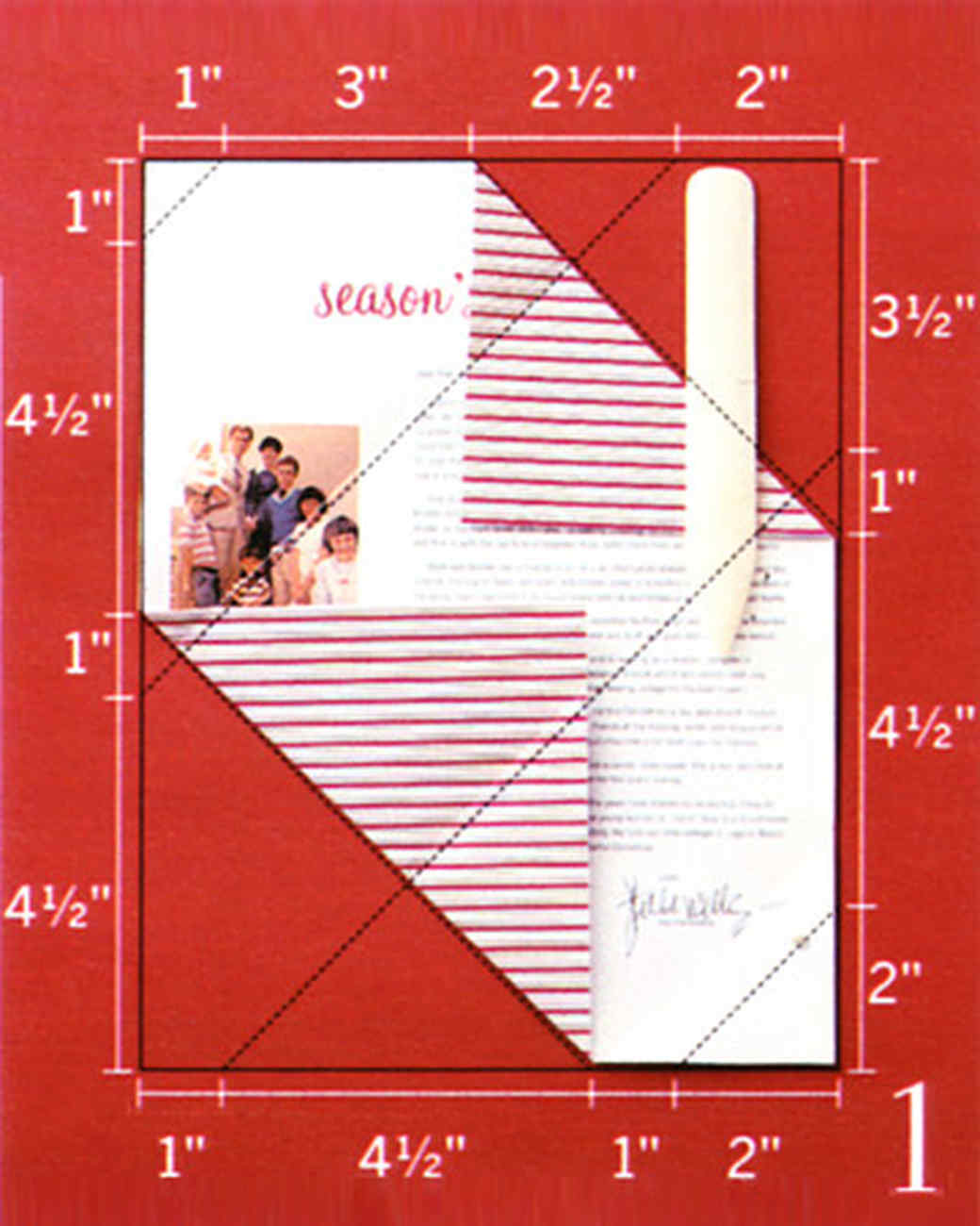 Envelope Fold Holiday Letter
