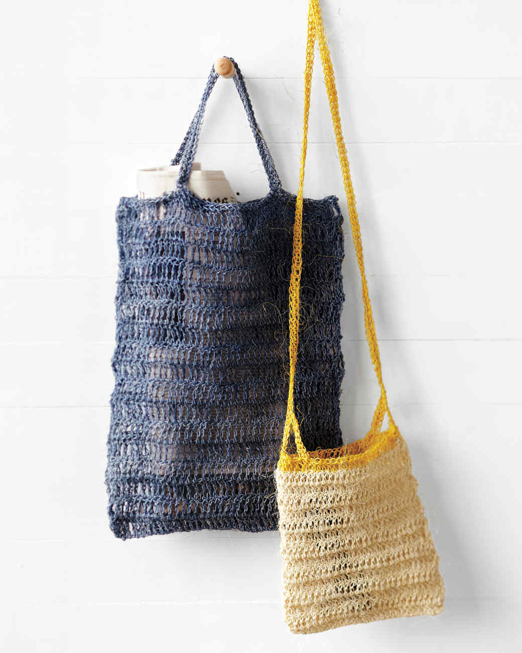 Crocheted Blue Summer Bag Martha Stewart