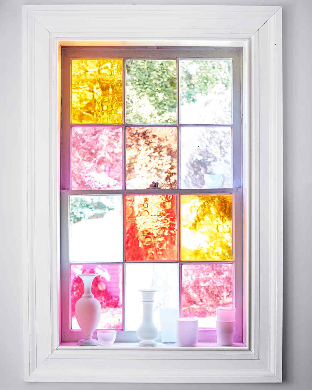 diy stained glass windows martha stewart