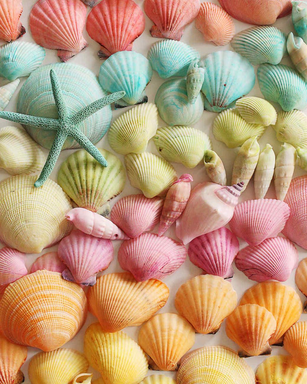 dyed seashells martha stewart