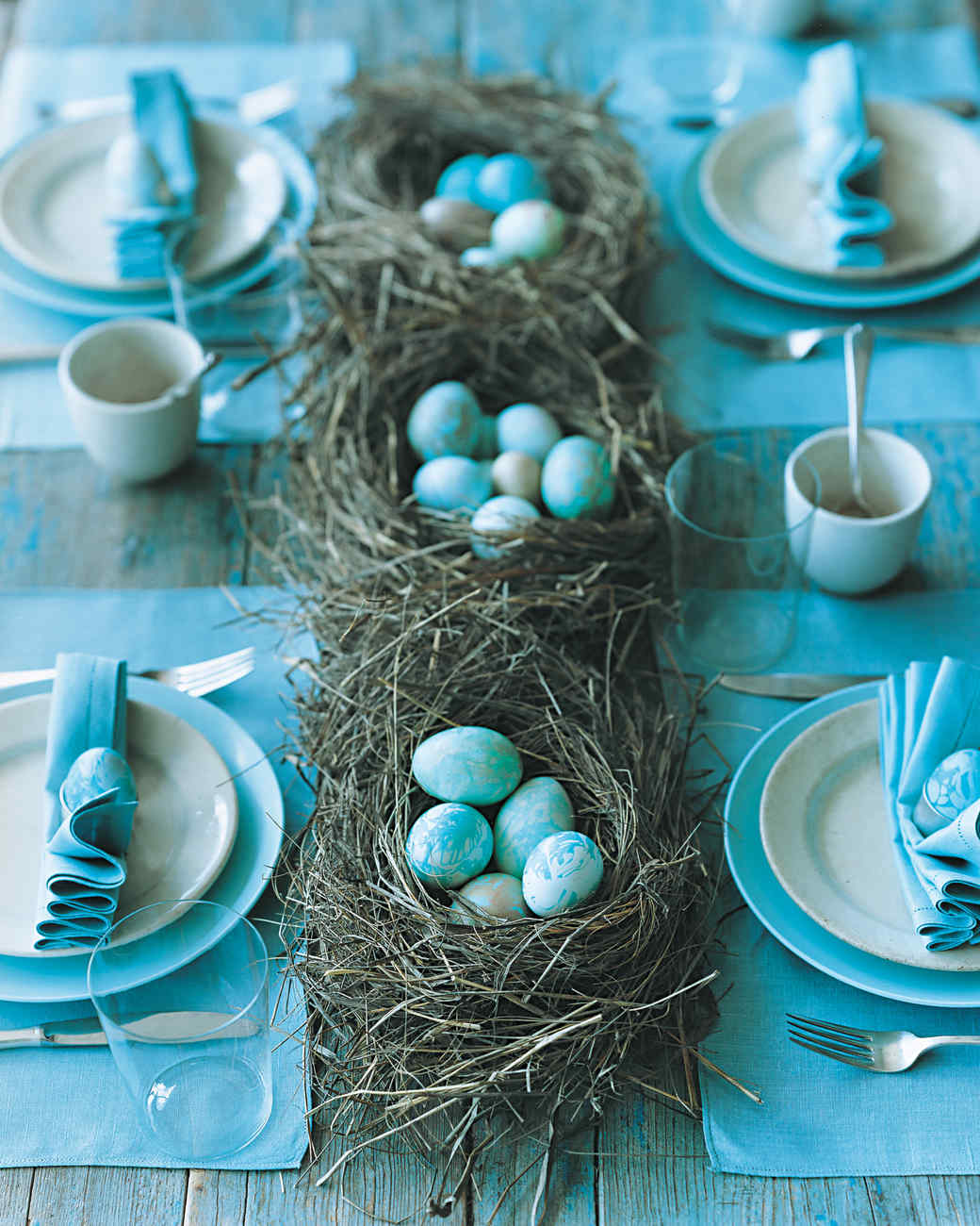 Marbleized Egg Table Setting