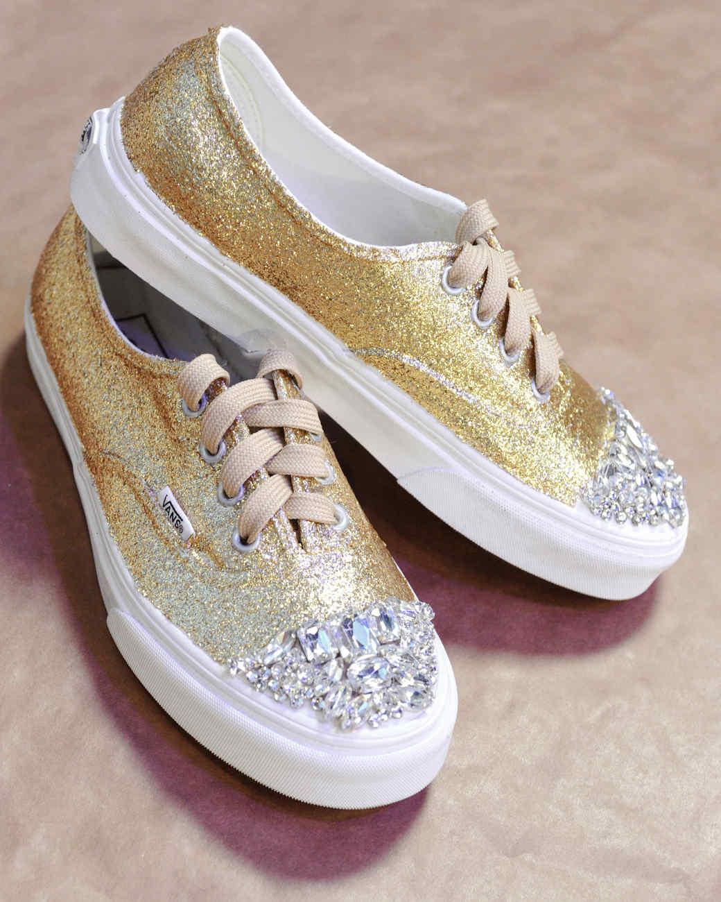 glittered sneakers martha stewart