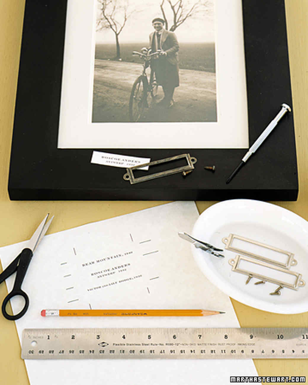 Labeled Photo Frames