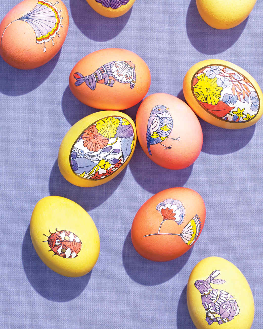 Easter Kid Craft Ideas Part - 33: Coloring Book Decoupage Easter Eggs