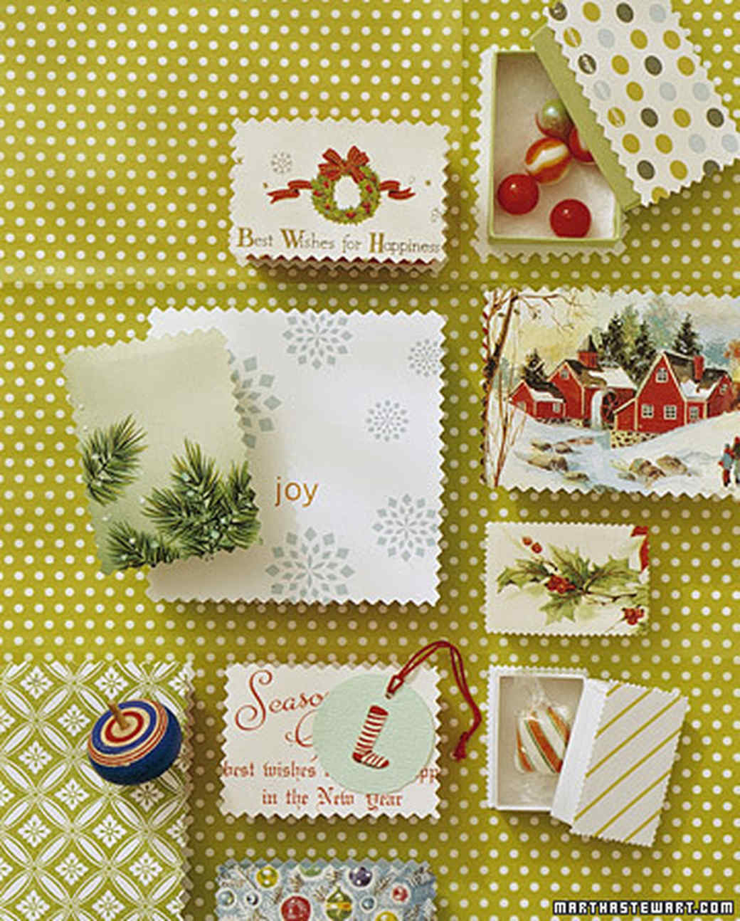 Recycled christmas card crafts martha stewart m4hsunfo