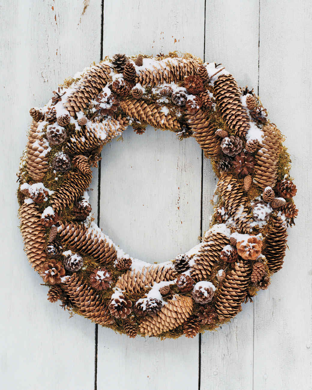 Frosted Pinecone Wreath Martha Stewart