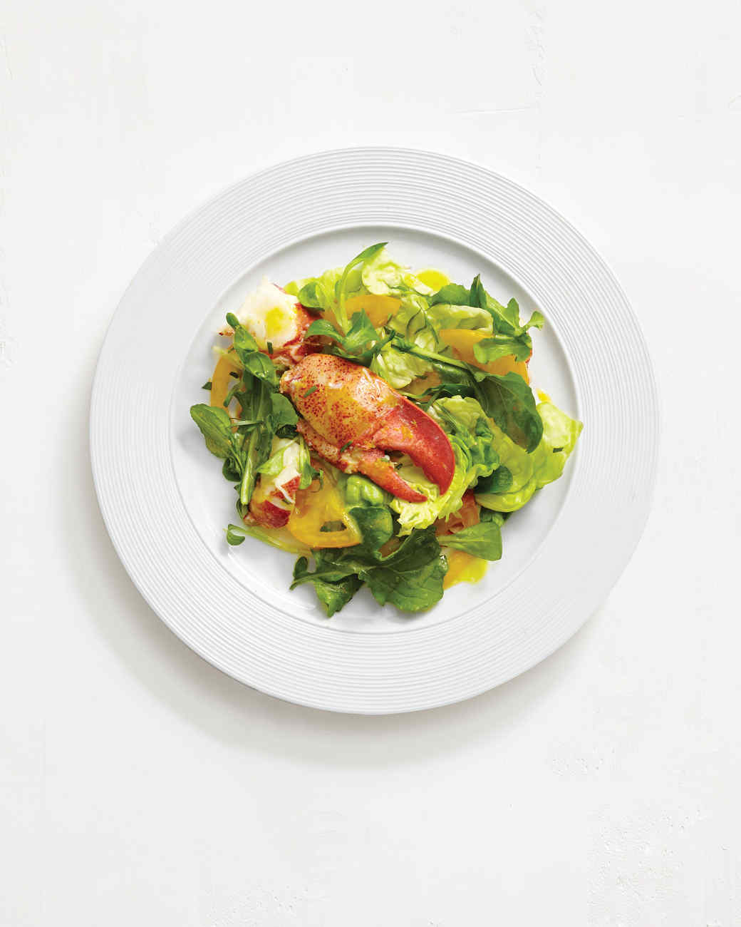 Lobster Salad with Greens and Citrus Vinaigrette