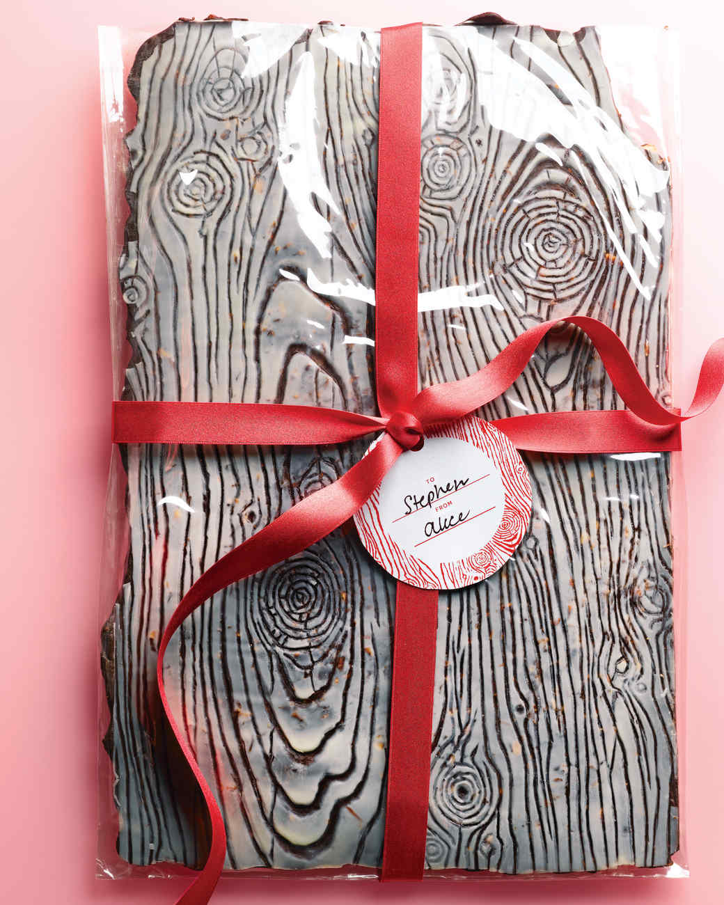 chocolate almond wood grain bark homemade candy