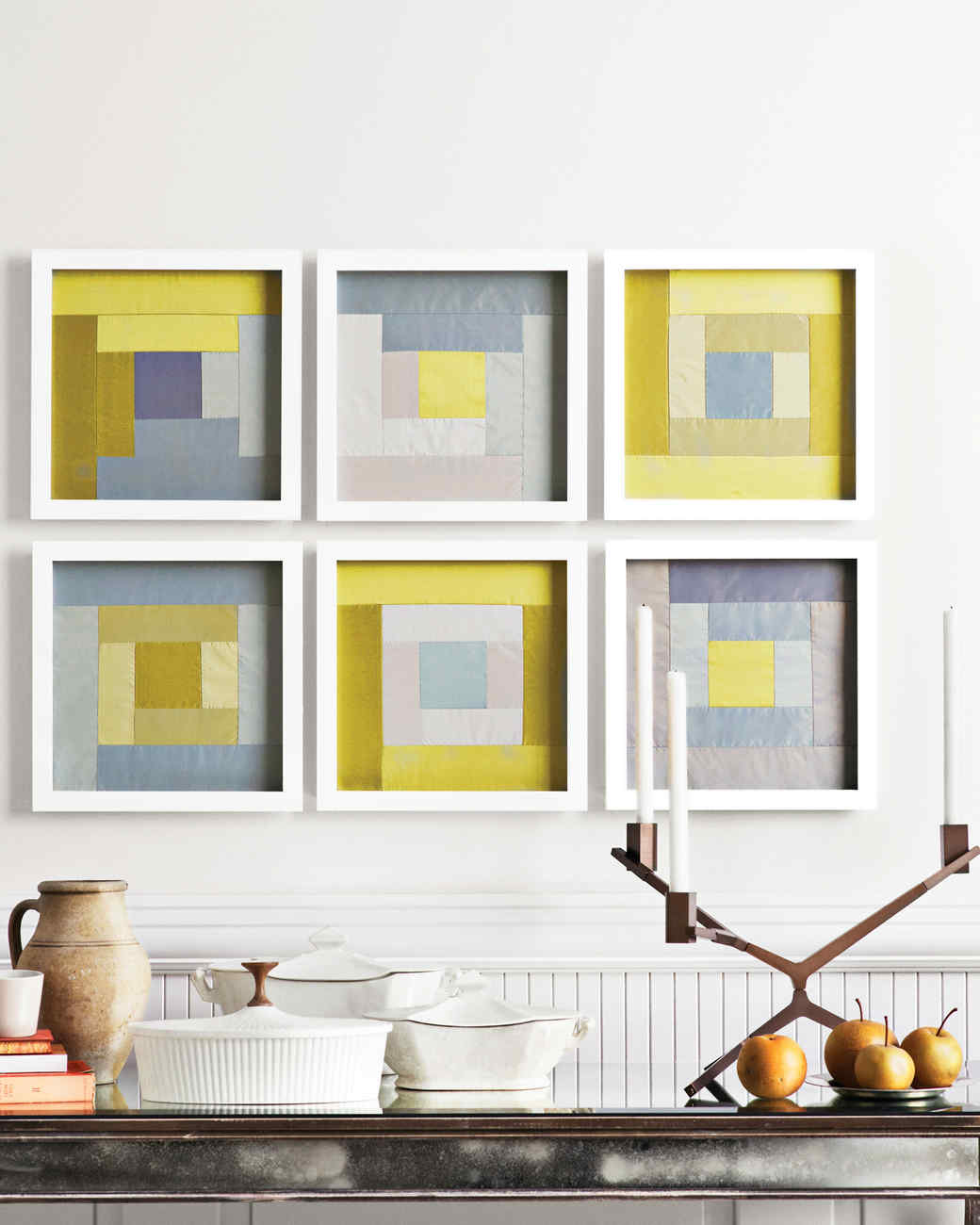 Abstract Inspiration & Nailed It: Budget-Friendly Wall Art and Framing Ideas | Martha Stewart