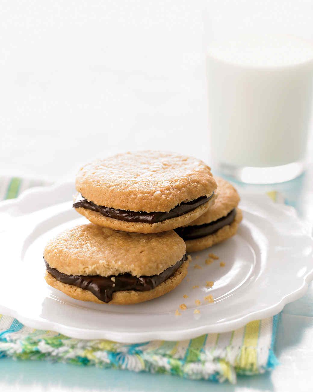 Chocolate Peanut-Butter Sandwich Cookies