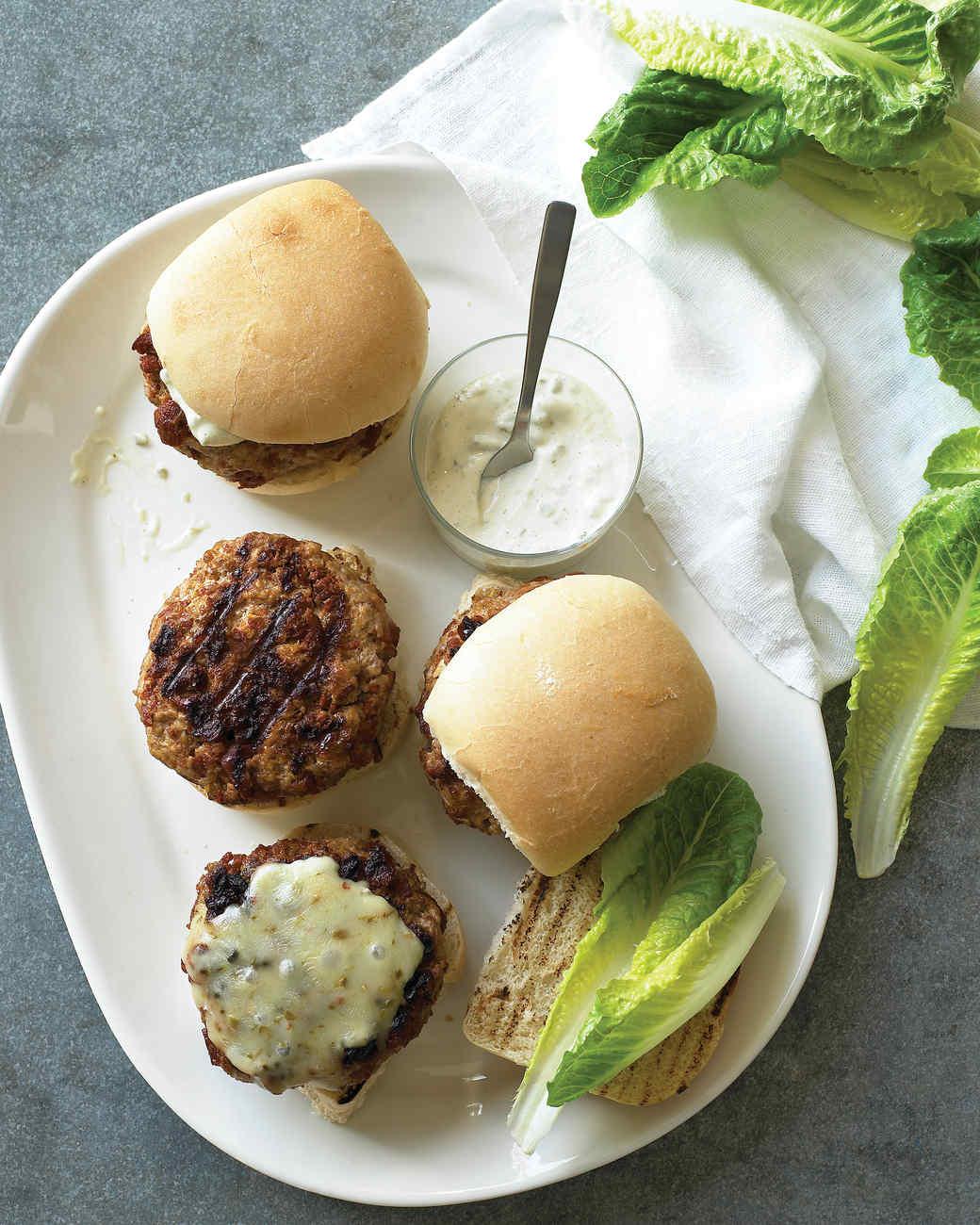 burger and slider recipes martha stewart