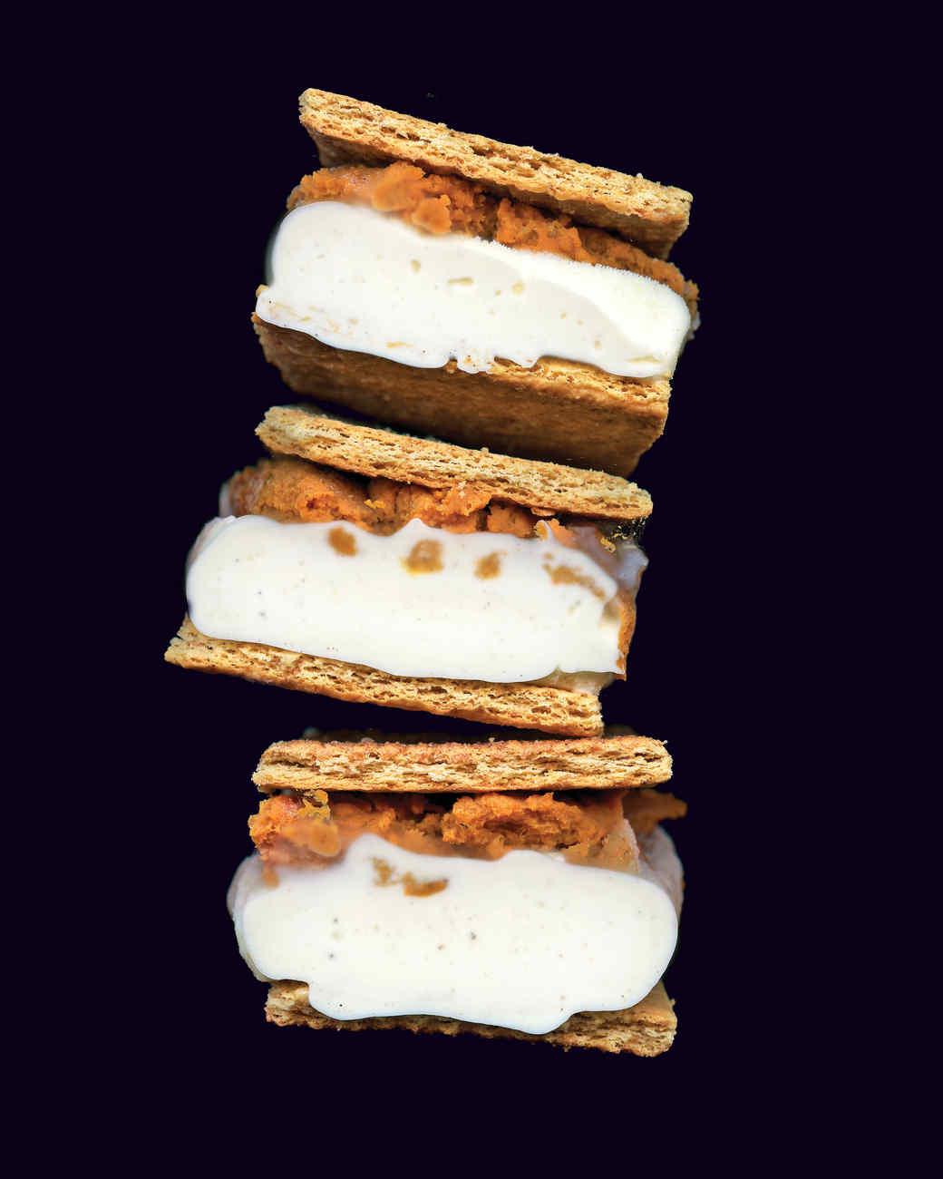 Pumpkin and Ice Cream Sandwich
