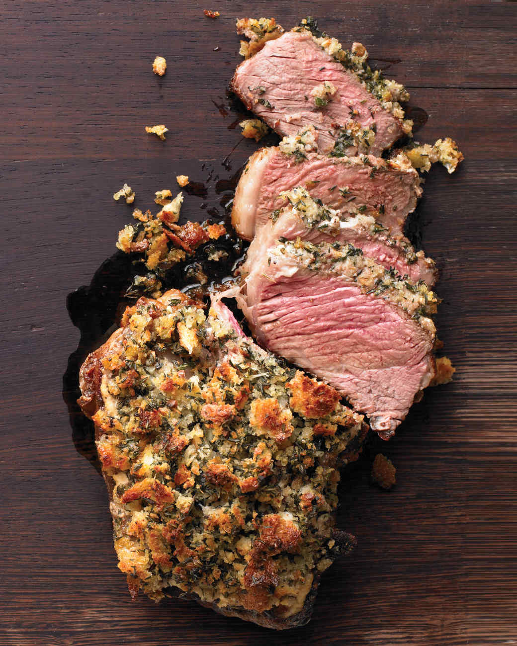 Rib Roast with Herb Crust