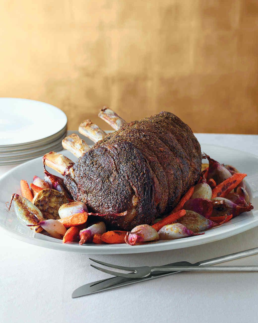 Holiday main dish recipes martha stewart herb crusted standing rib roast get recipe forumfinder Gallery
