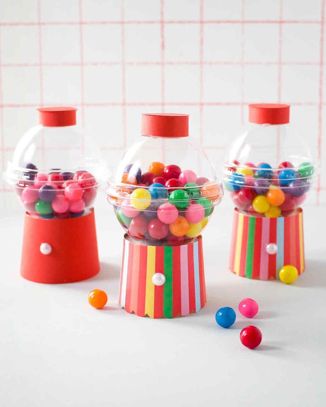 mini gum ball machine party favor