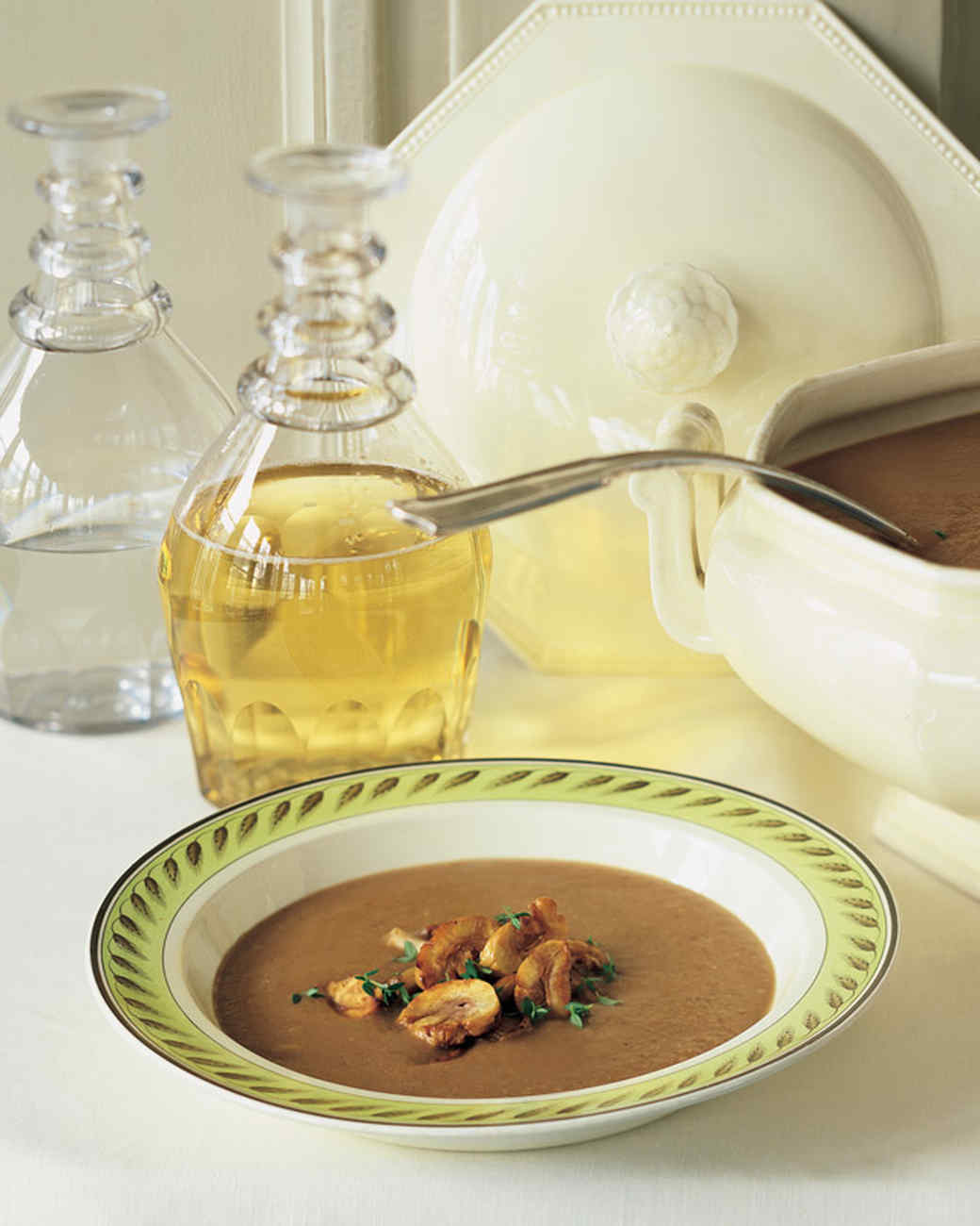 Chestnut-Mushroom Soup