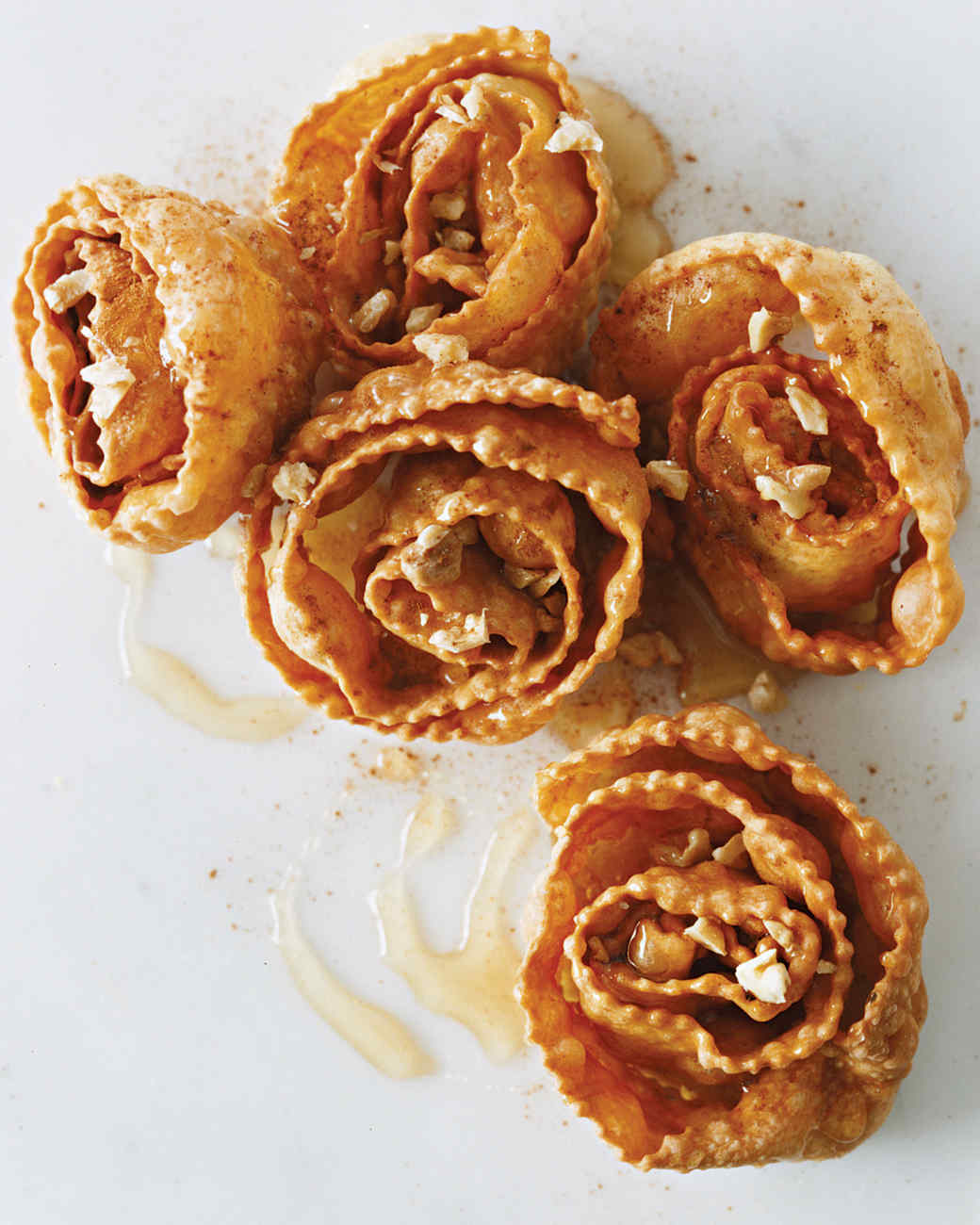 Spiral Fritters with Honey