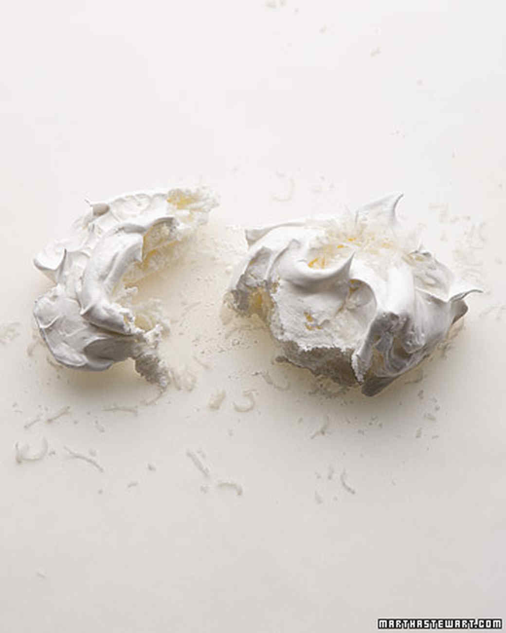 Coconut-Topped Meringues Infused with Vanilla Bean