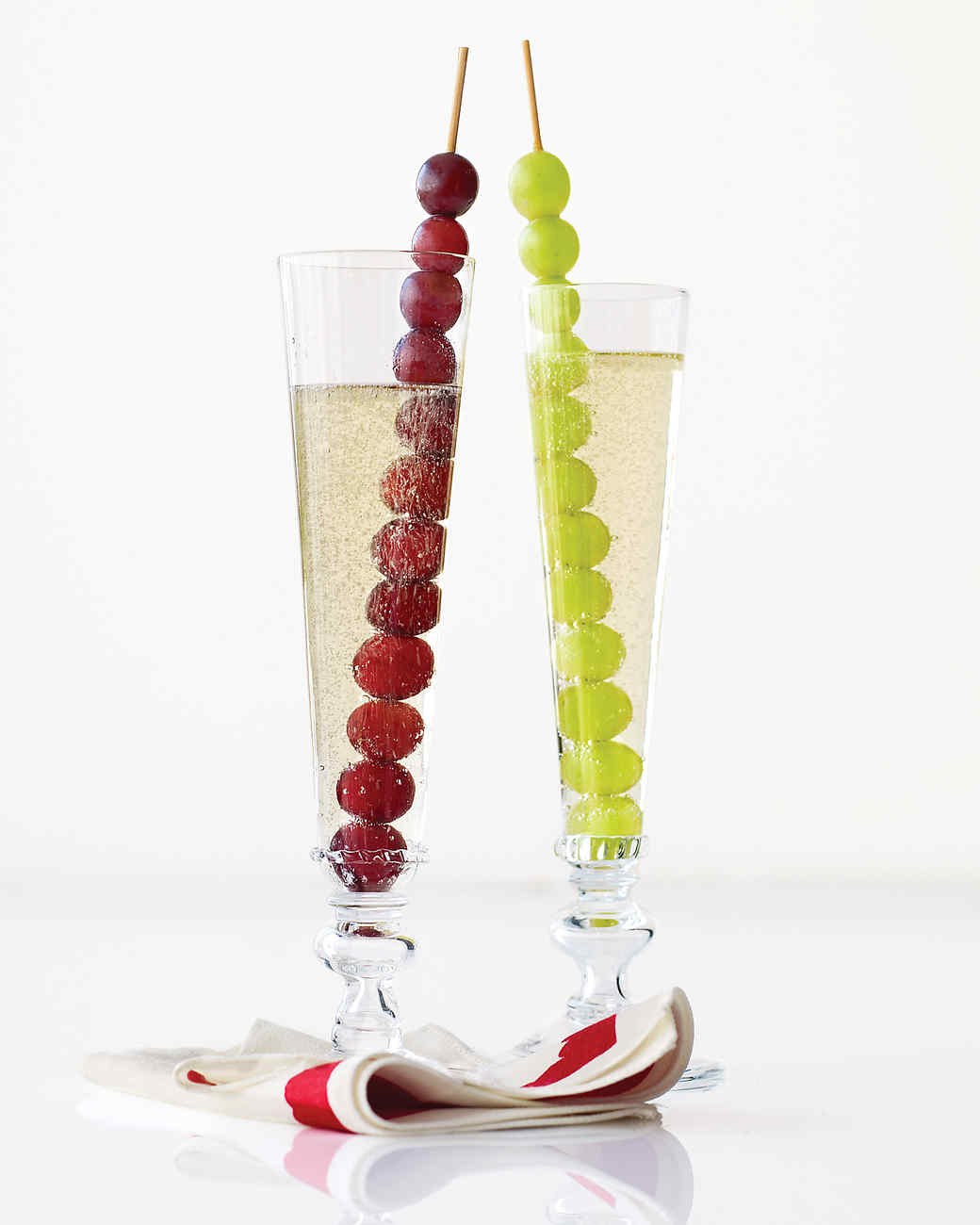 New Year's Champagne with Grapes