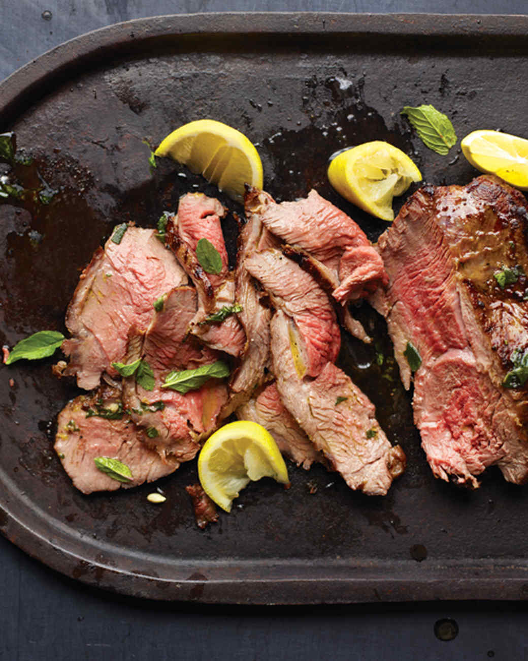 Grilled Leg of Lamb with Garlic and Mint