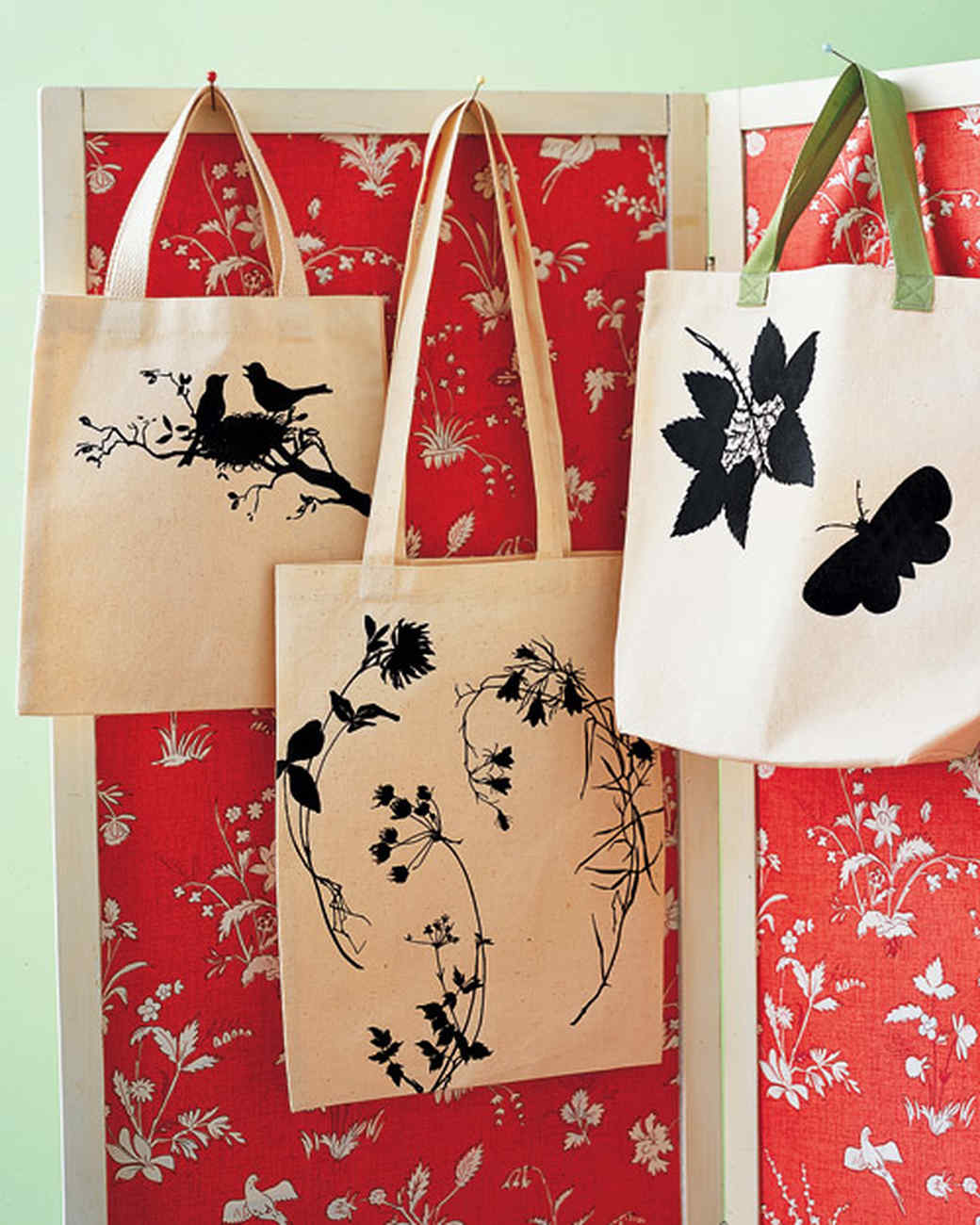 Tote Bags with Iron-On Silhouettes