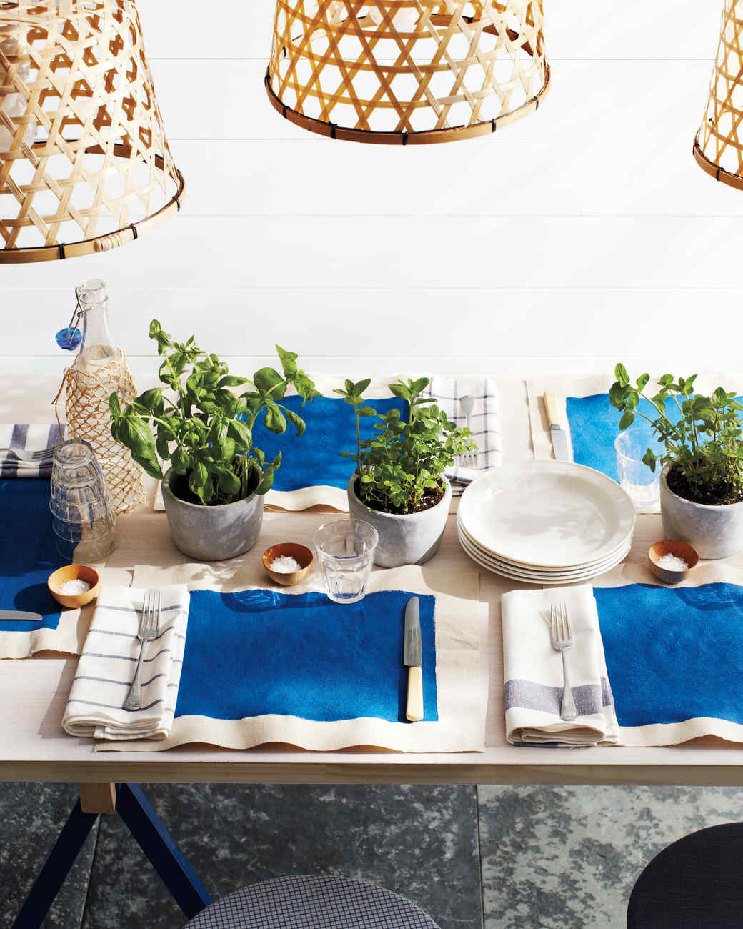 Shades of blue summer party decorations martha stewart