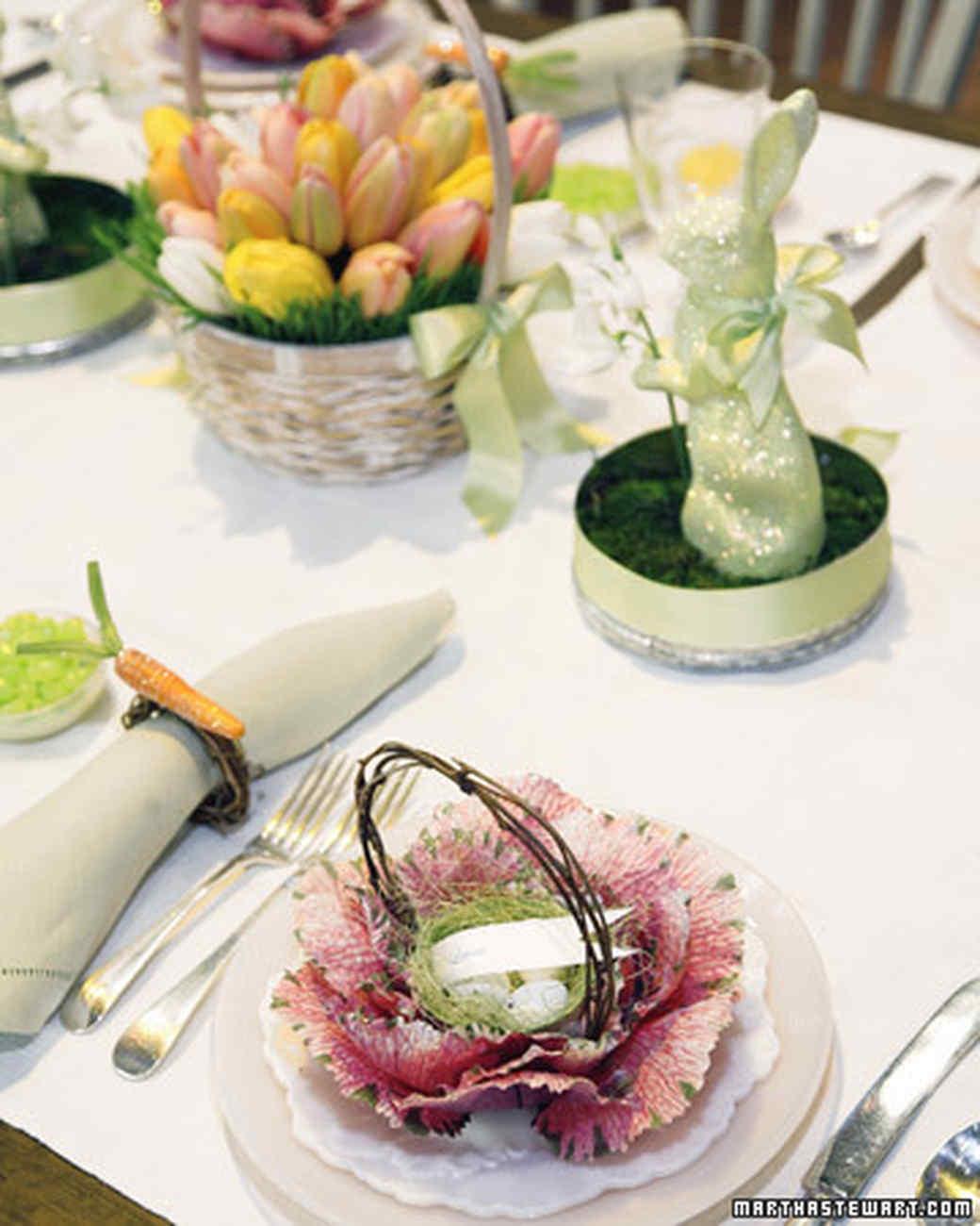 Glittered Easter Crafts: Cabbage Basket