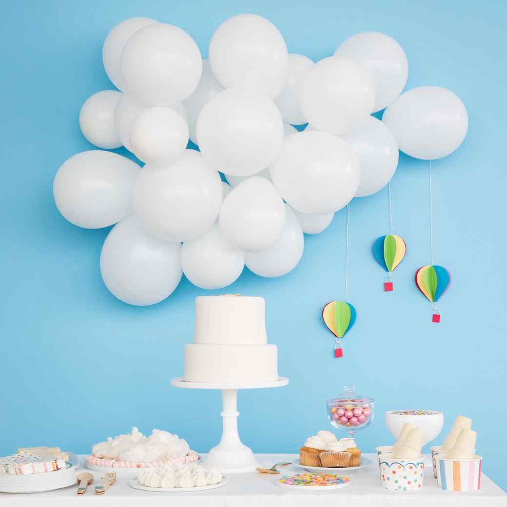 Up Up And Away It S A Hot Air Balloon Baby Shower Martha Stewart