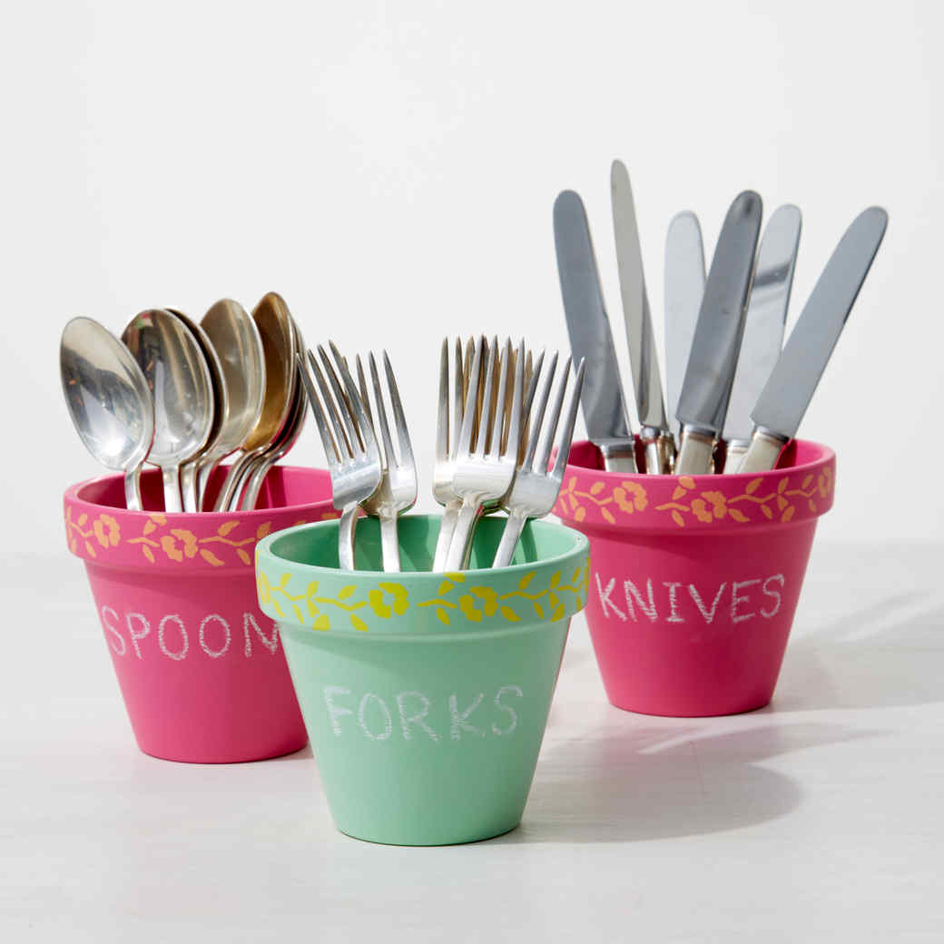 Chalkboard Utensil Holders