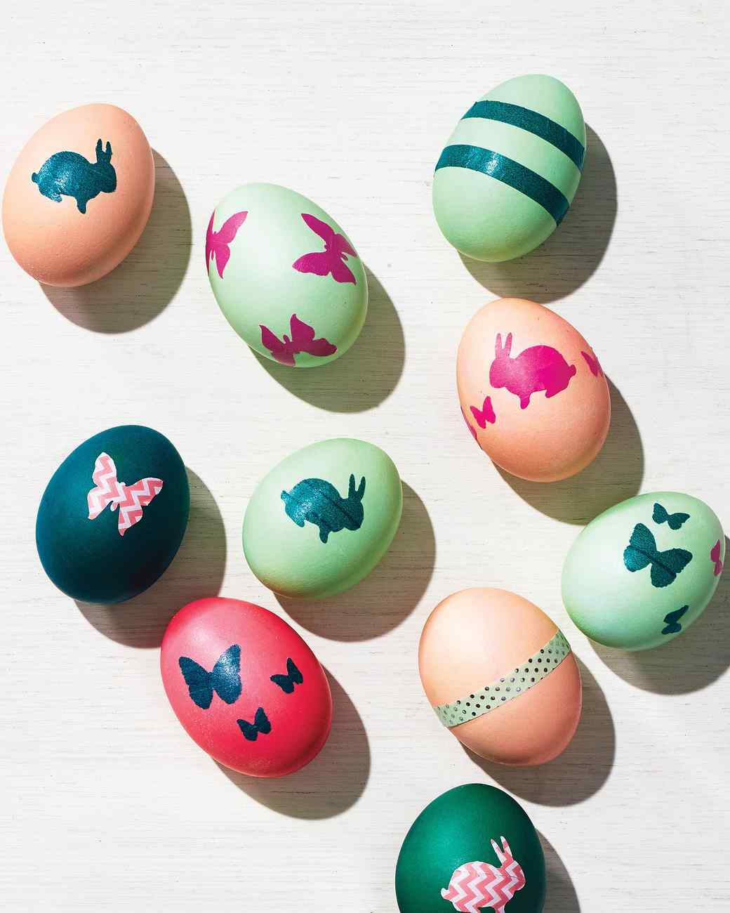 Washi Tape Decorated Easter Eggs Martha Stewart