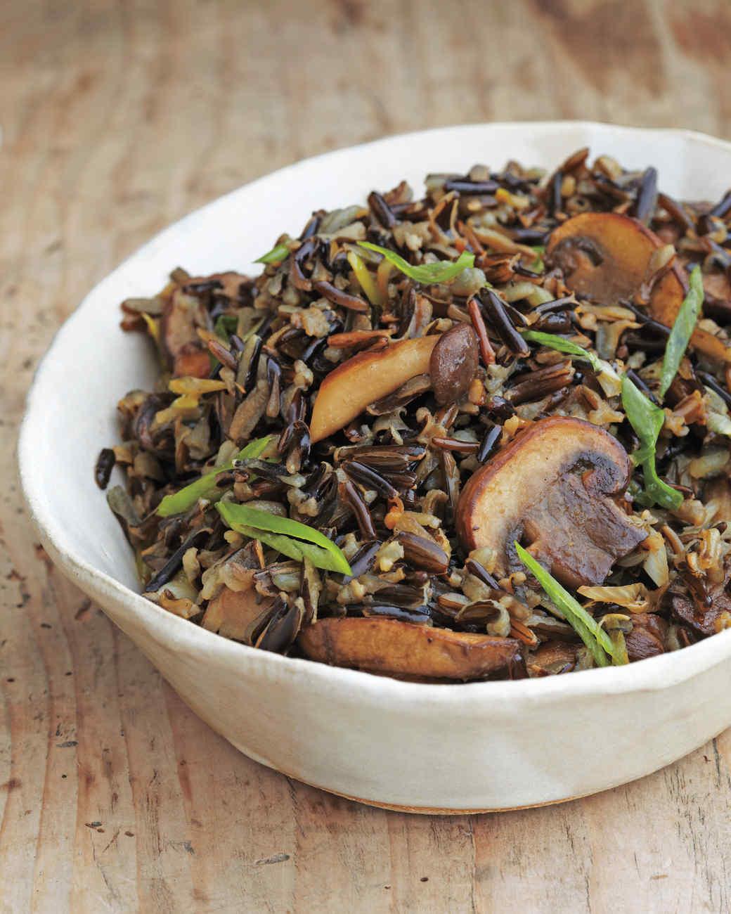 Wild Rice with Balsamic Mushrooms