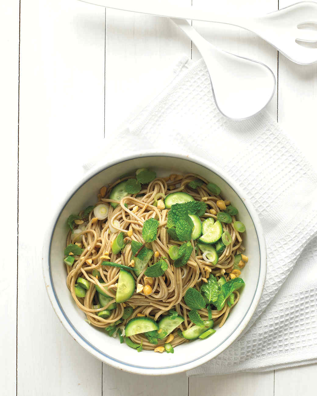 Asian Noodle Salad with Peanuts and Mint