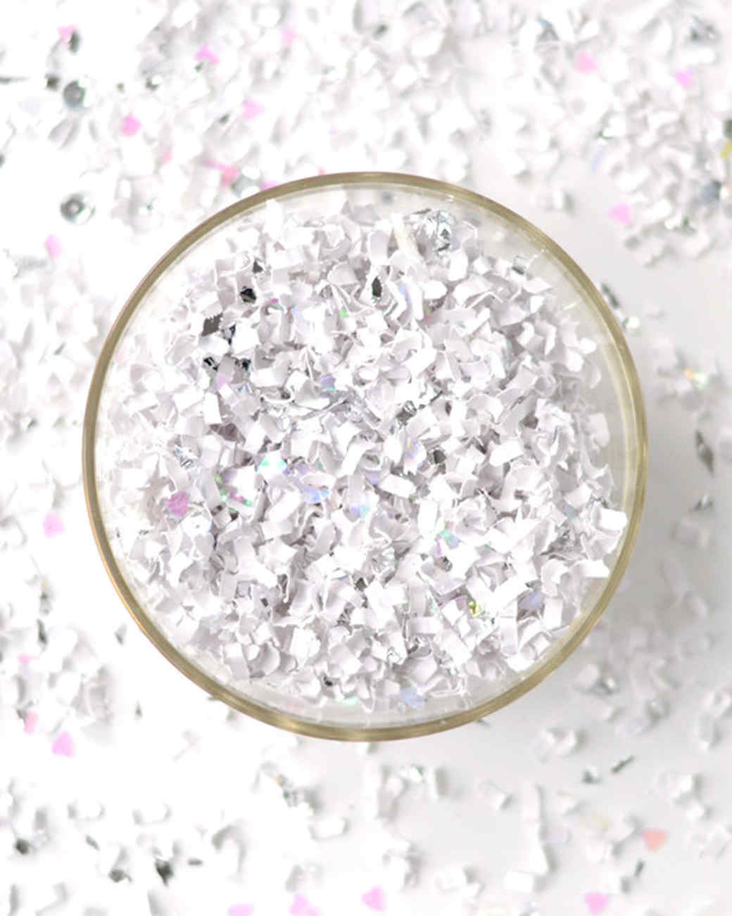 silver confetti