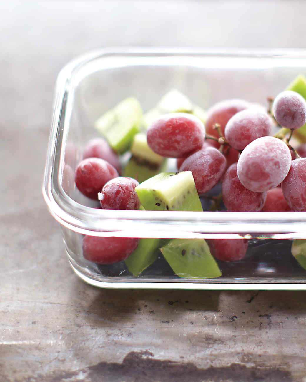 Frozen Grapes and Kiwi