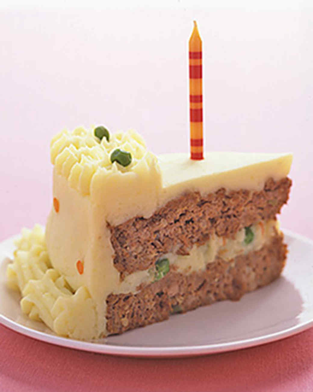 Birthday Meatloaf Cake