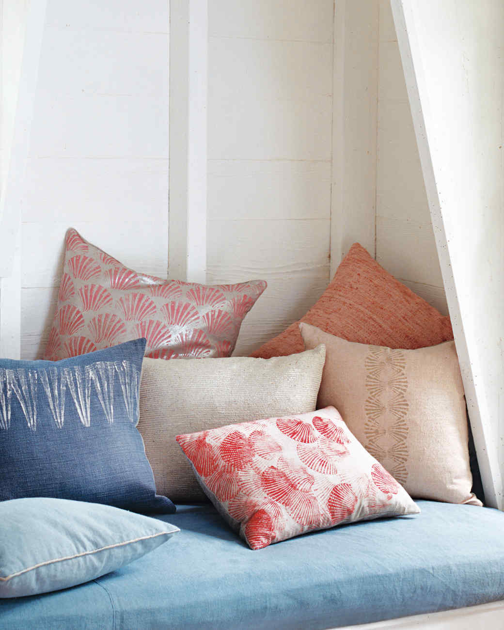Printed Seashell Pillows