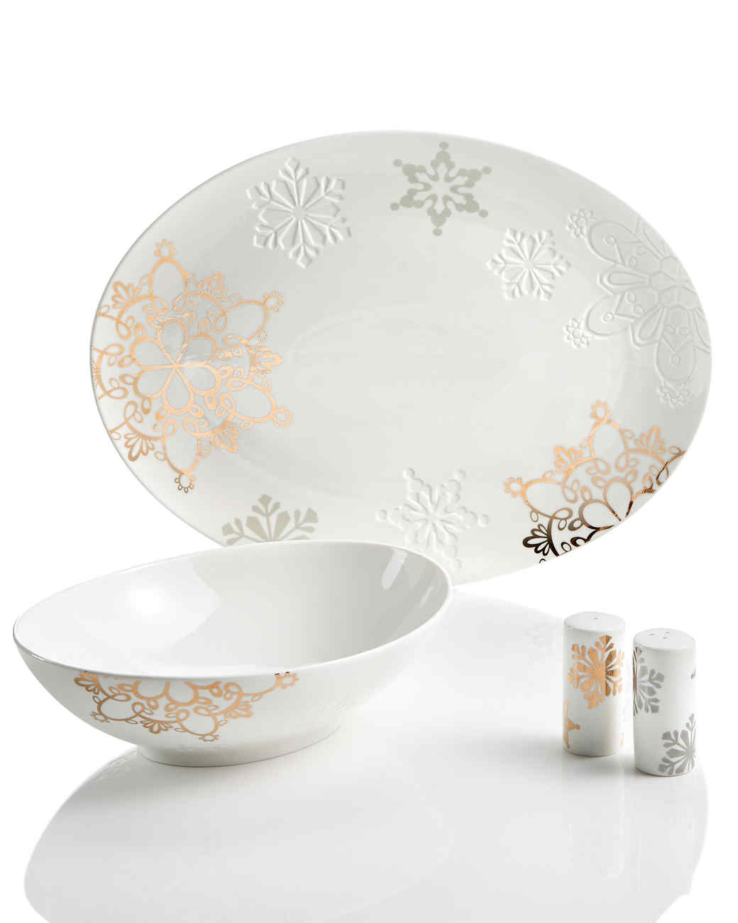white winter dinnerware