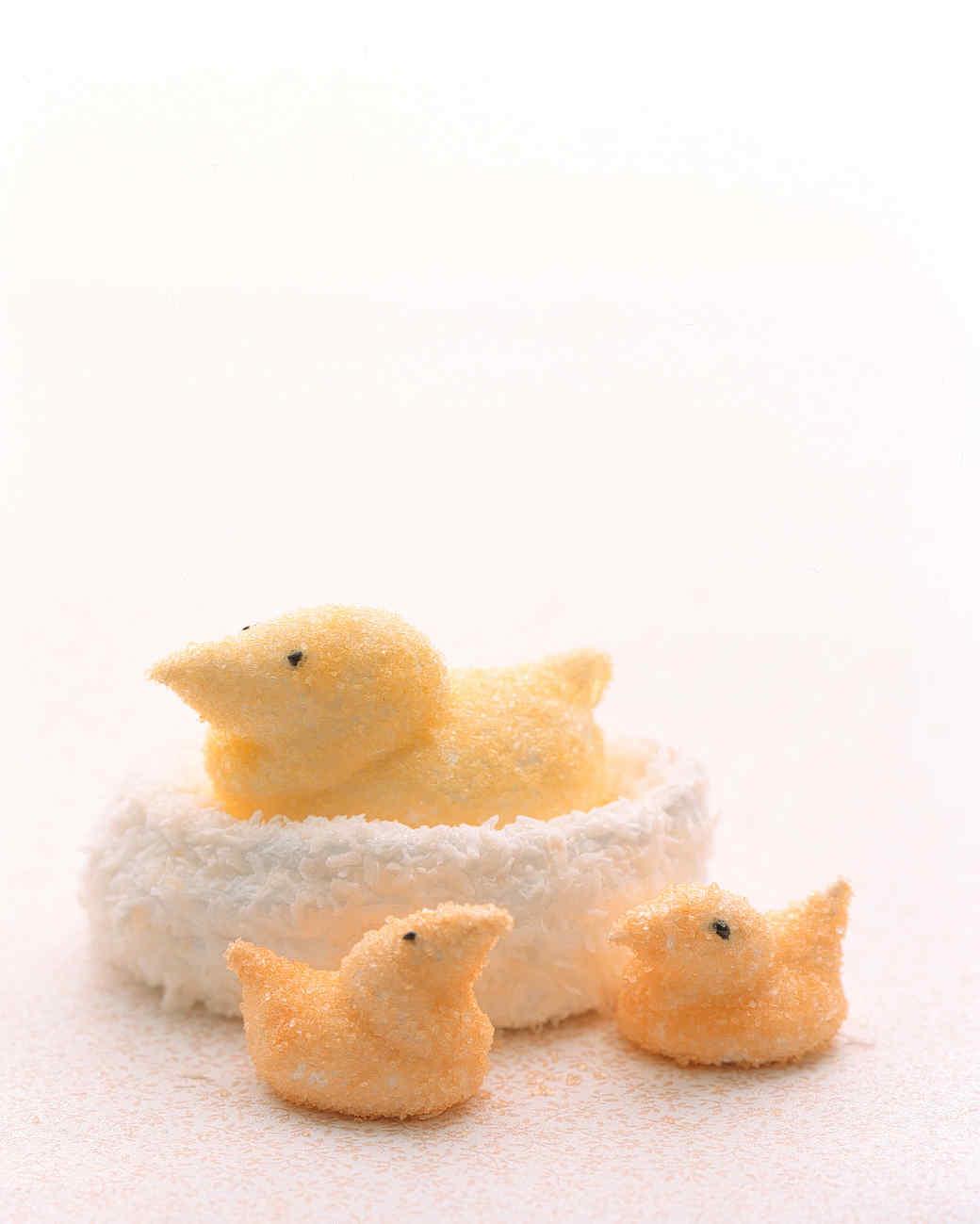 marshmallow bird nest mother babbies