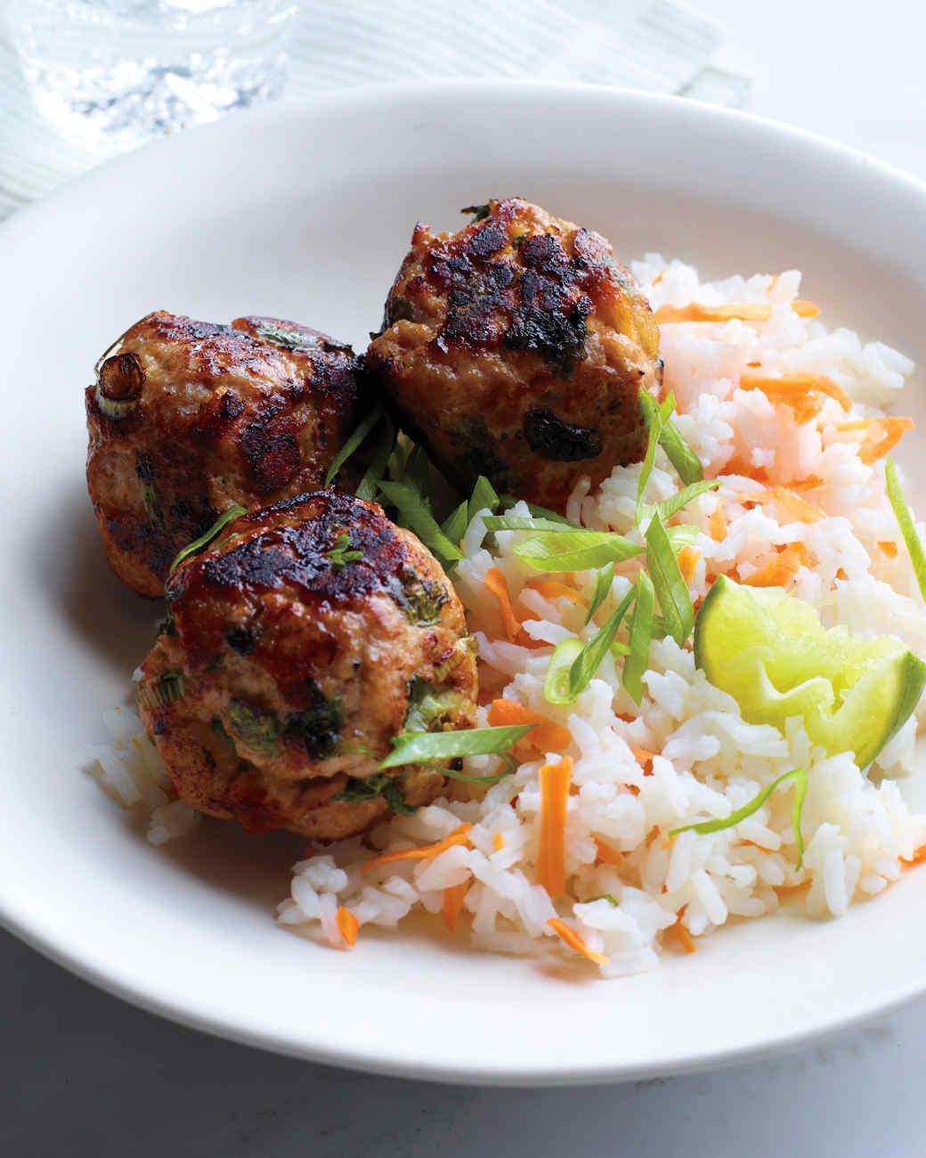 Man vs food recipes meatballs and rice