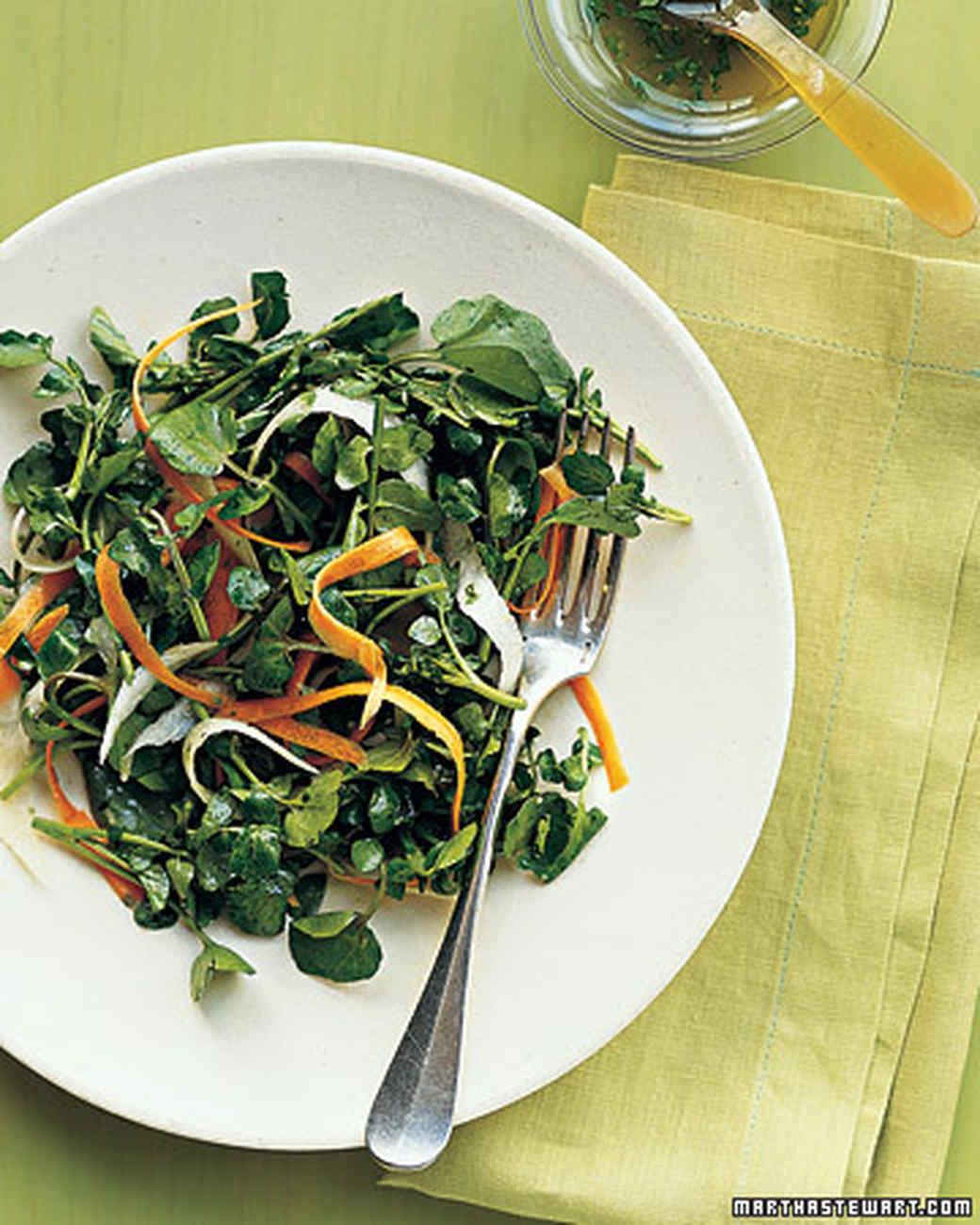 Watercress Salad with Carrots and Jicama