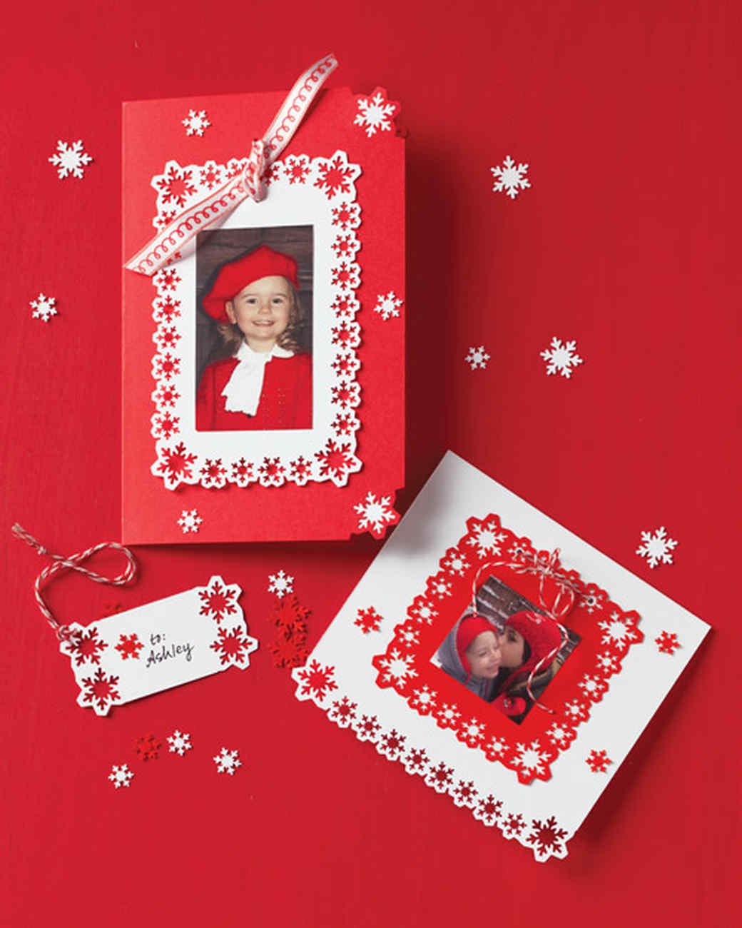 Martha Stewart Card Making Ideas Part - 31: Punched-Snowflake Photo Cards And Gift Tags