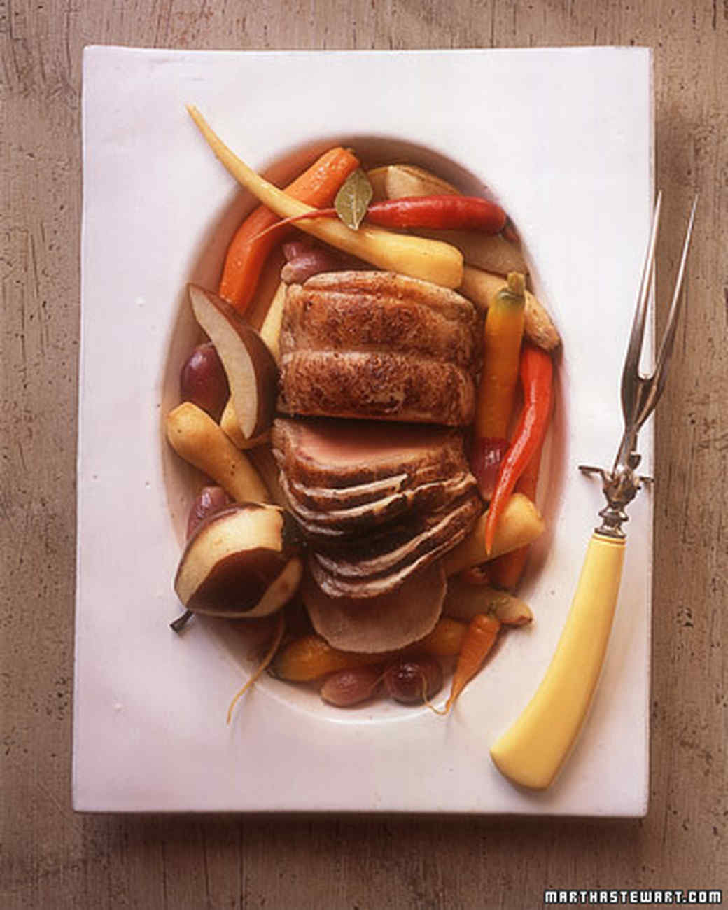 Braised Pork Loin with Pears