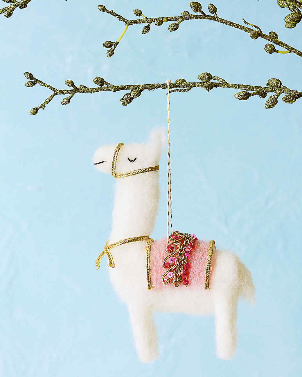 Llama Christmas Decorations.Needle Felted Llama Ornament Martha Stewart