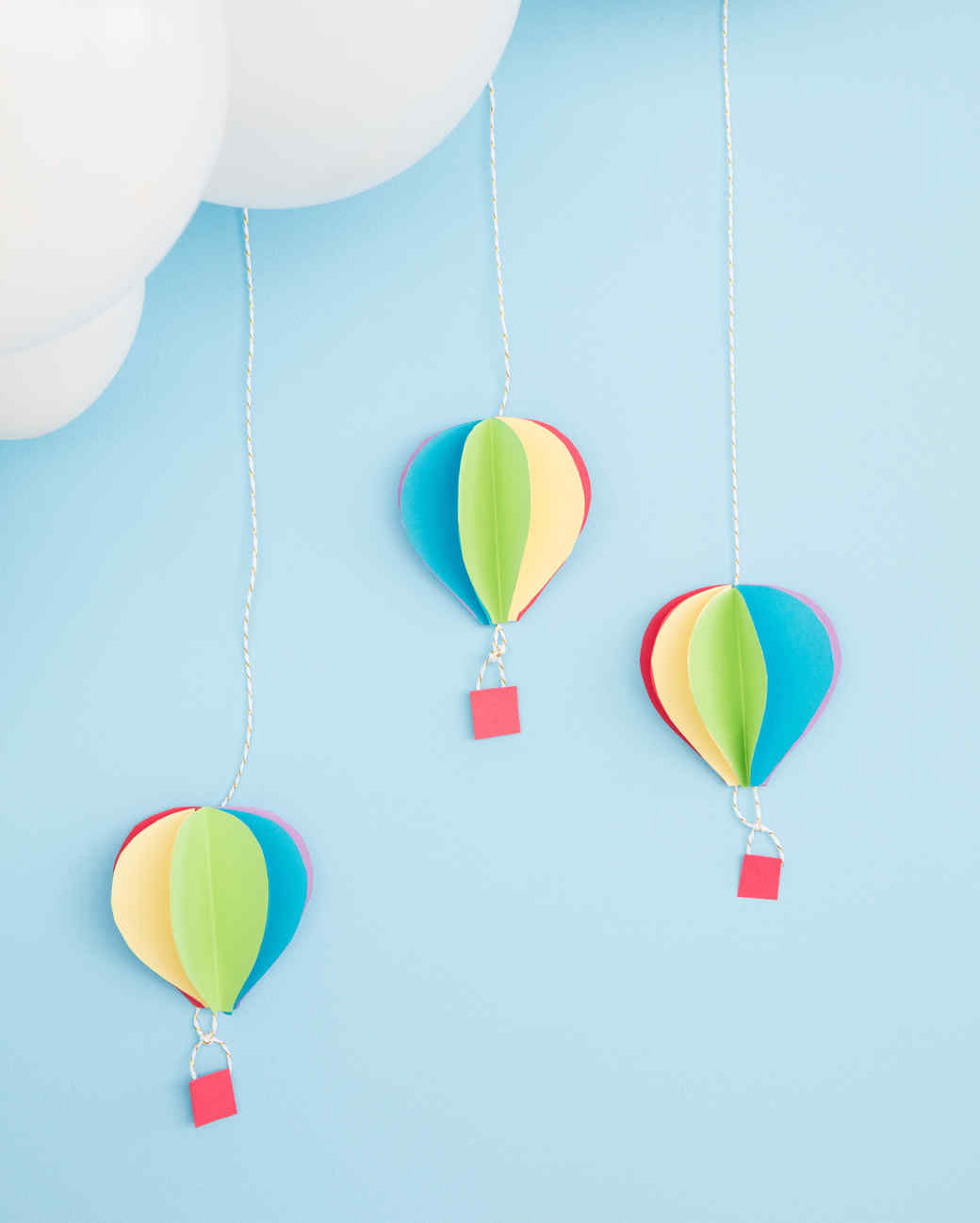 image relating to Balloon Modelling Instructions Printable named 3-D Sizzling Air Balloon Paper Decorations Martha Stewart