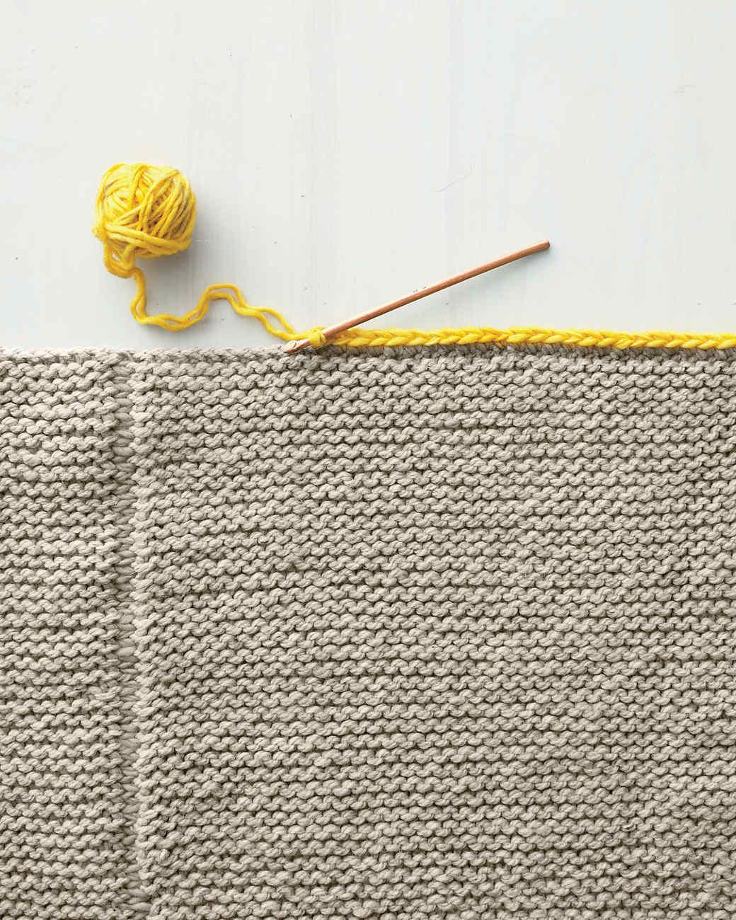 Knit Blanket Video Martha Stewart
