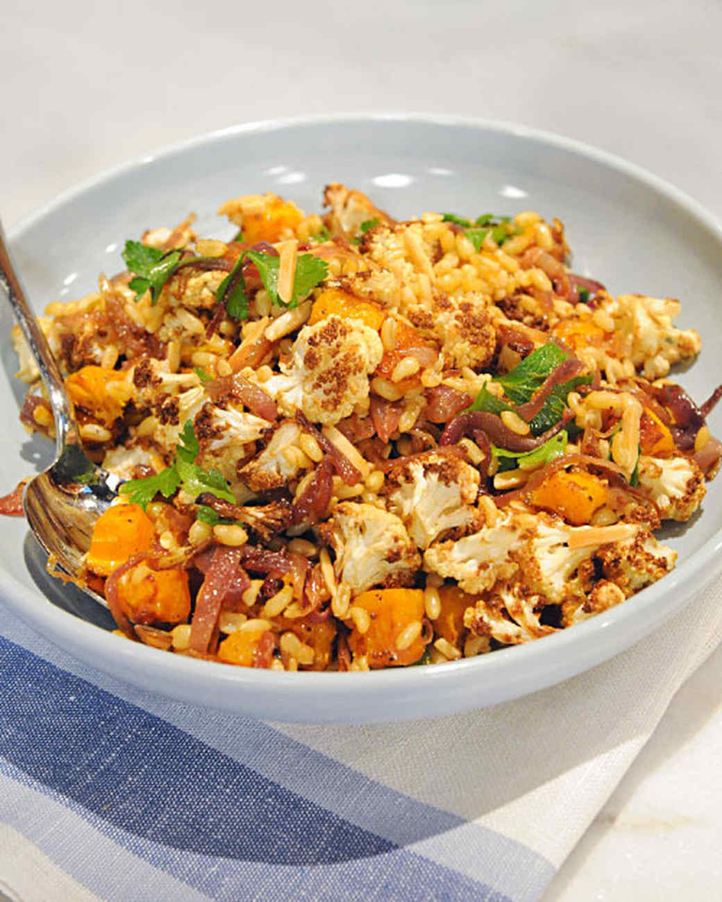 Kamut Berry Pilaf with Butternut Squash and Cauliflower Recipe & Video ...